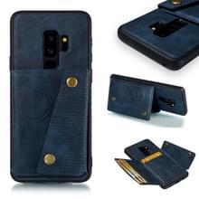 Lederen beschermhoes voor Galaxy S9 plus (blauw)