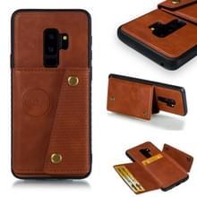 Lederen beschermhoes voor Galaxy S9 plus (bruin)