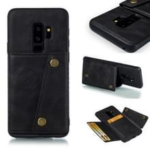 Lederen beschermhoes voor Galaxy S9 plus (zwart)