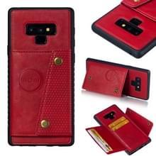 Lederen beschermhoes voor Galaxy Note9 (rood)