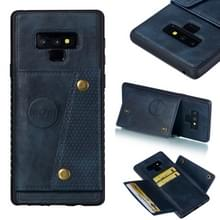 Lederen beschermhoes voor Galaxy Note9 (blauw)