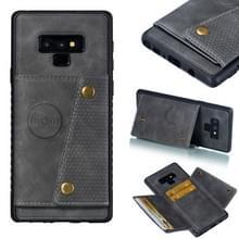 Lederen beschermhoes voor Galaxy Note9 (grijs)