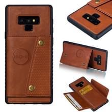 Lederen beschermhoes voor Galaxy Note9 (bruin)