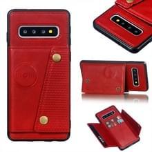 Lederen beschermhoes voor Galaxy S10 (rood)