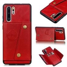 Lederen beschermhoes voor Huawei P30 Pro (rood)