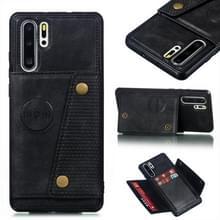 Lederen beschermhoes voor Huawei P30 Pro (zwart)