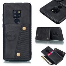 Lederen beschermhoes voor Huawei mate 20 (zwart)