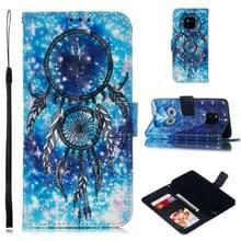 Lederen beschermhoes voor Huawei mate 20 Pro (blauwe Windbell)