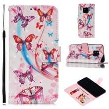 Lederen beschermhoes voor Huawei mate 20 Pro (vliegende vlinders)