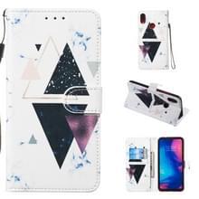 Lederen beschermende case voor Redmi Note 7 (trigonal Marble)