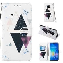 Lederen beschermhoes voor Huawei mate 20 (trigonal Marble)