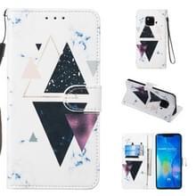 Lederen beschermhoes voor Huawei mate 20 Pro (trigonal Marble)