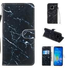 Lederen beschermhoes voor Huawei mate 20 Pro (zwart marmer)