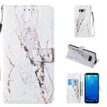 Lederen beschermhoes voor Galaxy S8 plus (wit marmer)