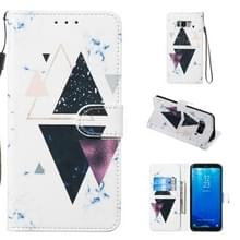 Lederen beschermhoes voor Galaxy S8 plus (trigonal Marble)