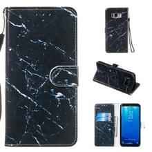 Lederen beschermhoes voor Galaxy S8 plus (zwart marmer)