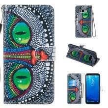 Lederen beschermhoes voor Galaxy S8 plus (groene ogen)