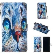 Lederen beschermhoes voor Galaxy S9 plus (Blue Cat)