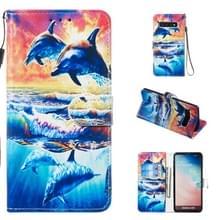 Lederen beschermhoes voor Galaxy S10 (Dolphin)