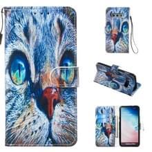 Lederen beschermhoes voor Galaxy S10e (Blue Cat)