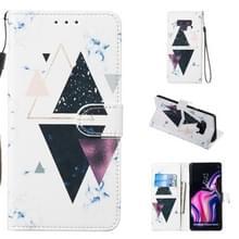 Lederen beschermhoes voor Galaxy Note9 (trigonal Marble)