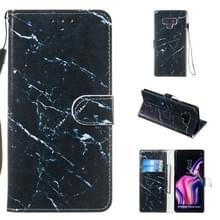Lederen beschermhoes voor Galaxy Note9 (zwart marmer)