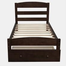 [Amerikaans pakhuis] WF191655AAP Platform Twin Bed Frame met opbergladen & houten latten  Maat: 79 5x41 3x36 1 inch(Koffie)