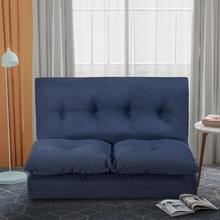 [Amerikaans pakhuis] PP019425QAA Floor Sofa Verstelbare stof  maat: 76.78x39.37x4.3 inch(Navy Blue)