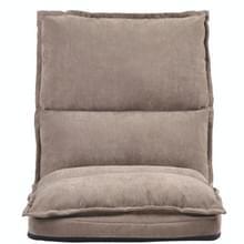 [Amerikaans pakhuis] Verstelbare stof vouwen luie vloer stoel (Beige)