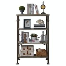 [Amerikaans pakhuis] Modern metalen frame houten 4-laags boekenplank  grootte: 48 6 x 32 7 x 16 1 inch
