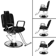 [Amerikaans pakhuis] Liggende haircut stoel kappersstoel (Zwart)
