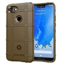 Volledige dekking schokbestendig TPU Case voor Google pixel 3 XL (bruin)