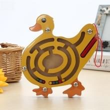Kinderen puzzel Toy houten magnetische klein Duck patroon dierlijke doolhof