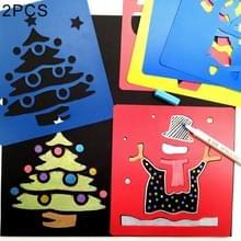 2 sets (6 stuks / Set) kinderen kunststof schilderij tekening sjabloon Stencil Kids speelgoed  willekeurige stijl-levering