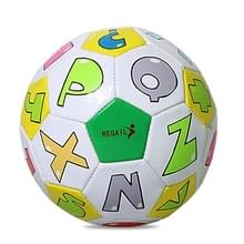 REGAIL No. 2 Intelligence PU Leder Slijtvast Letter Football for Children  met Inflator