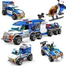 4 in 1 KAZI City politie kinderen DIY verlichting geassembleerd bouwstenen educatieve intelligentie speelgoed