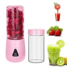 Draagbare Mini 380ml Elektrisch Fruit Juicer Household Electric Juice Cup (Roze)