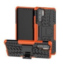 Tire Texture TPU + PC schokbestendig geval voor Huawei P30 Pro  met houder (Orange)