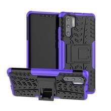 Band textuur TPU + PC schokbestendig geval voor Huawei P30 Pro  met houder (paars)