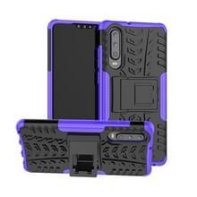 Band textuur TPU + PC schokbestendig geval voor Huawei P30  met houder (paars)