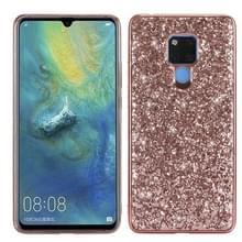 Glittery poeder schokbestendig TPU Case voor Huawei mate 20 X (Rose goud)