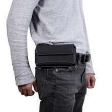 Mannen universele Oxford doek draagbare mobiele telefoon taille Pack lederen Case voor Huawei Mate 20 X / 6 9 Inch of onder Smartphones (zwart)
