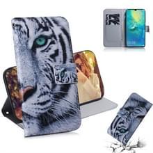 Tiger patroon gekleurde tekening horizontale Flip lederen case voor Huawei mate 20 X  met houder & card slots & portemonnee
