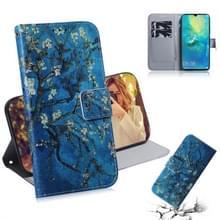 Abrikoos bloem patroon gekleurde tekening horizontale Flip lederen case voor Huawei mate 20 X  met houder & card slots & portemonnee