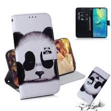 Panda patroon gekleurde tekening horizontale Flip lederen case voor Huawei mate 20 X  met houder & card slots & portemonnee
