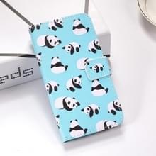 Panda's patroon gekleurde tekening horizontale Flip lederen case voor Huawei mate 20 X  met houder & card slots & portemonnee & Lanyard
