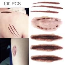 S-250 100 PCS Halloween terreur realistische krassen wond letsel litteken tatouage sticker
