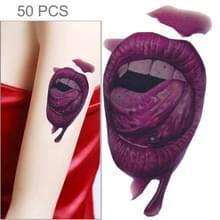 S-291 50 PCS Halloween terreur realistische wond bloed mond tijdelijke tattoo sticker