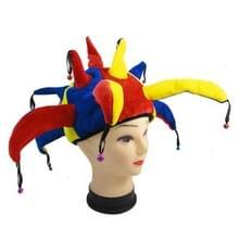Grappige Multicolor Halloween Props Clown hoed