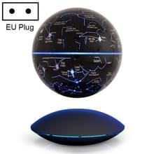 6 inch rotatie verlichten van de Engelse magnetische levitatie Globe Office ambachten ornamenten  EU plug (zwart)